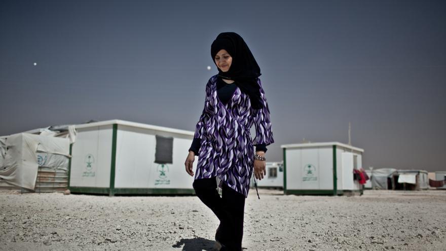Leka'a, mujer siria refugiada en el campo de Za'atari./ Fotografía: Pablo Tosco/ Intermón Oxfam