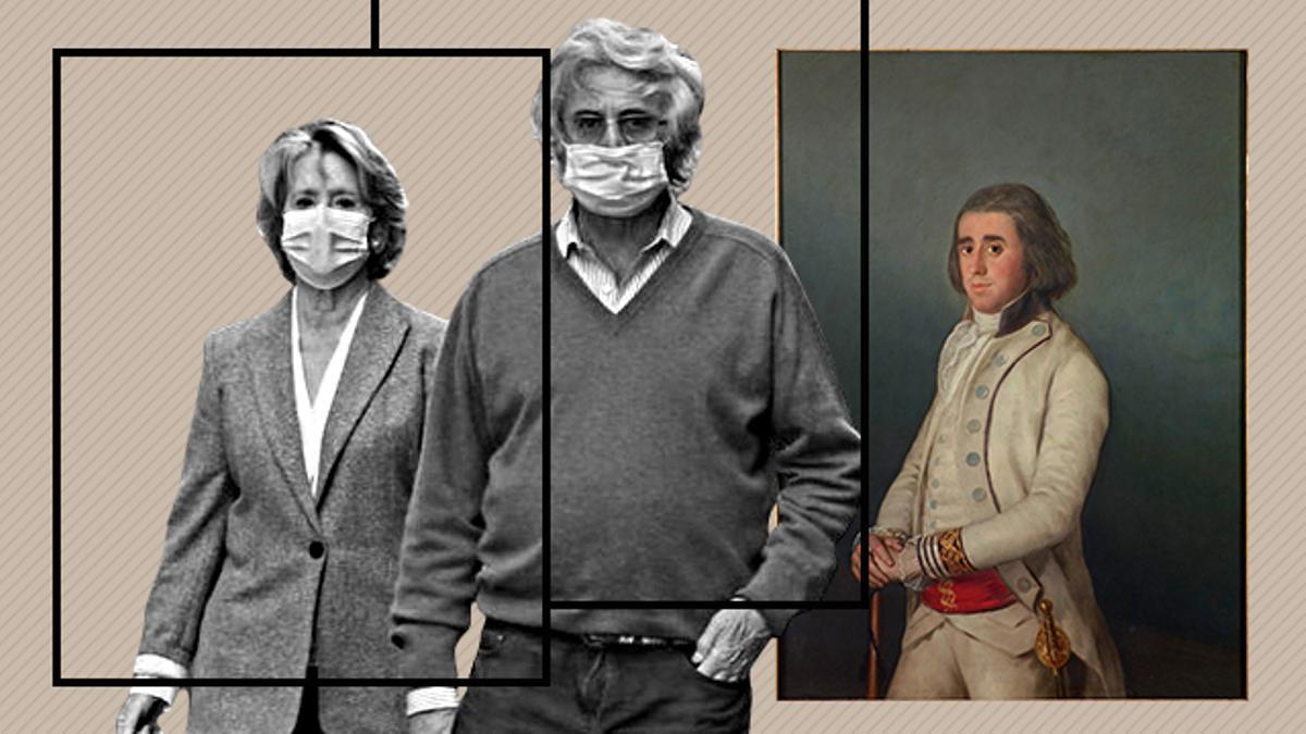 Montaje Goya Aguirre y su marido.