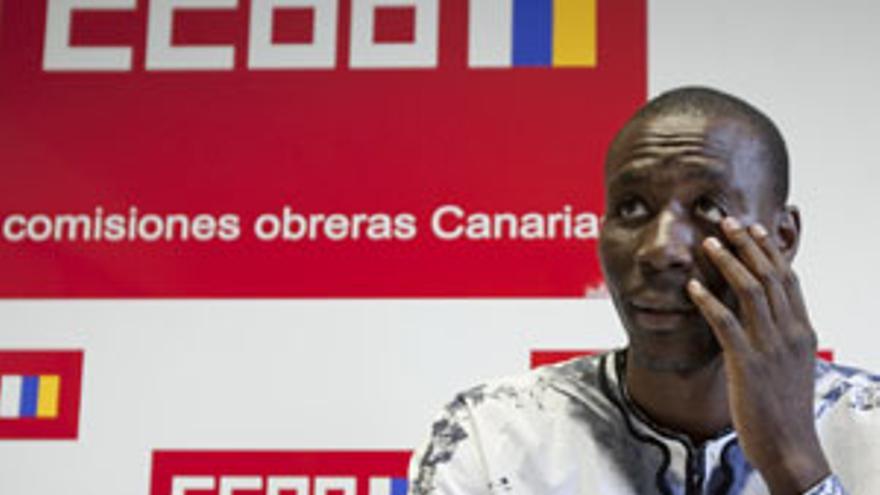 Luc André Diouf, secretario regional de Migraciones de CCOO en Canarias. (ACN PRESS)