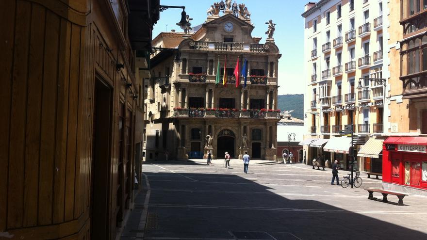 La plaza Consistorial de Pamplona.