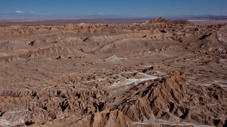Muestra de las dunas del desierto de Atacama