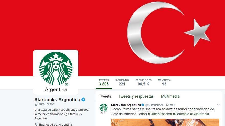 La cuenta de Starbucks de Argentina, entre las afectadas.