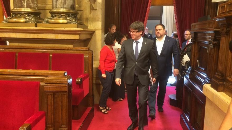 Puigdemont intensifica contactos con los consellers para una reorganización del Govern y anula su agenda de mañana