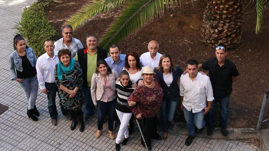 En la imagen, miembros de la candidatura de NC al Ayuntamiento de Santa Cruz de La Palma.