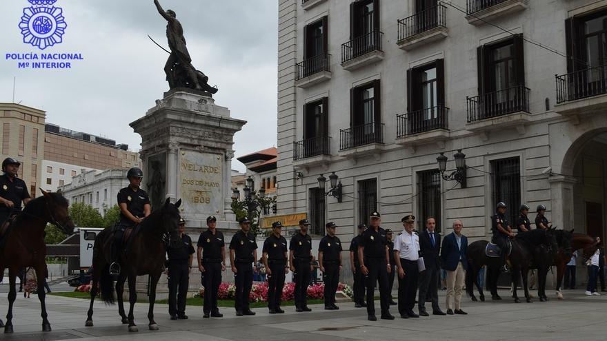 La Policía Nacional refuerza la seguridad en las fiestas con efectivos de Caballería y Brigada Móvil
