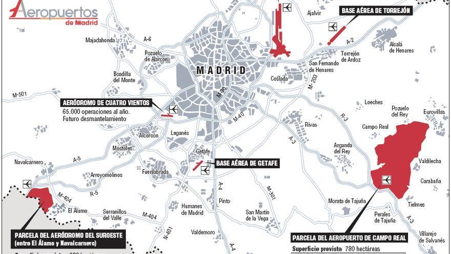 Proyectos aeroportuarios en Madrid / Comunidad de Madrid