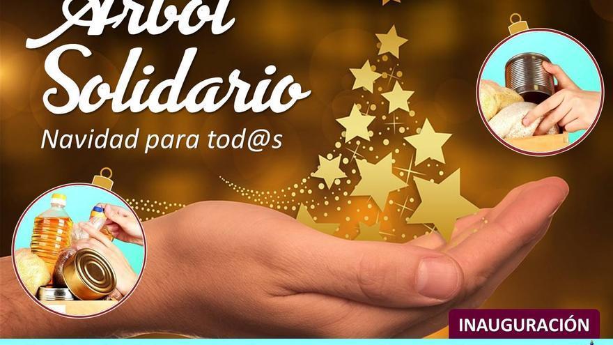 Cartel del Árbol solidario de El Paso.