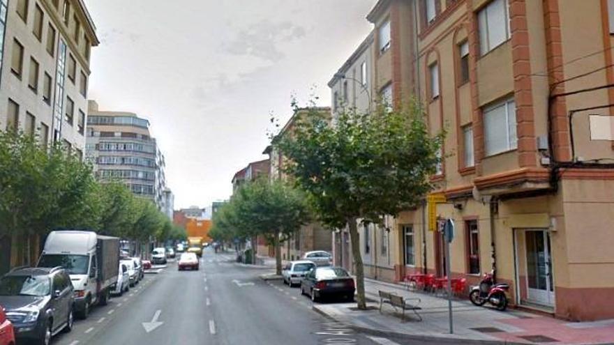 Imagen de la calle de la capital leonesa en la que tuvieron lugar los hechos.