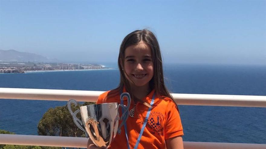 Sofía Otero Campos, campeona de España de Ajedrez 2017 en la categoría sub-10.