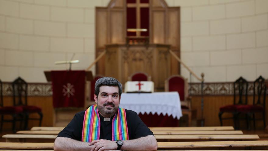 El pastor evangélico Alejandro Médel / MARTA JARA