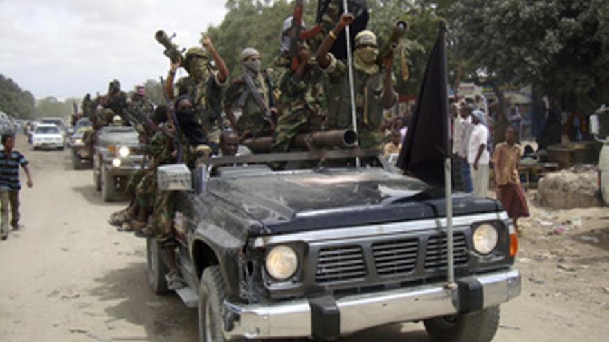 Militantes de Al Shabaab en Somalia