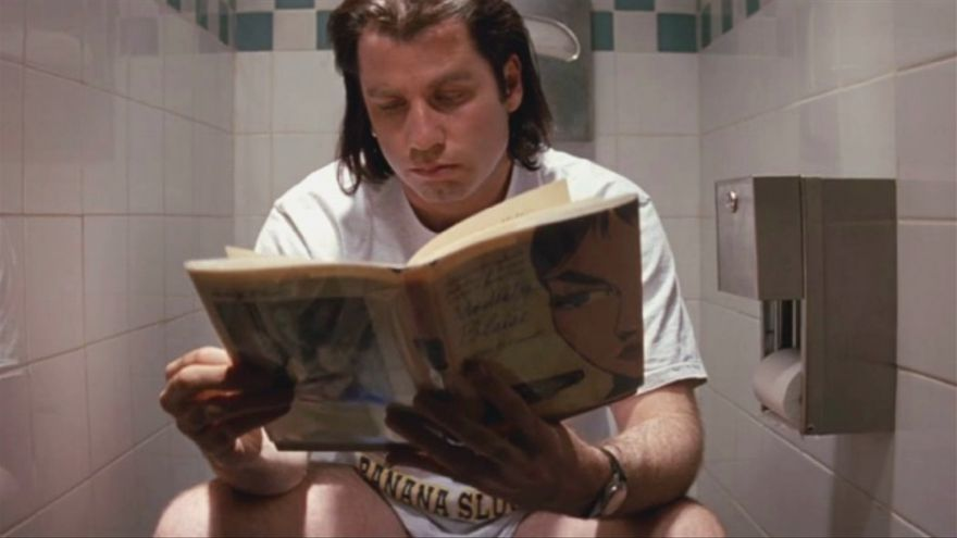 John Travolta en el papel de Vincent Vega en la película Pulp Fiction. Captura: ConsumoClaro