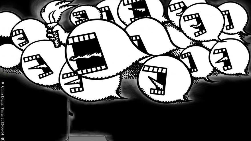 """""""El espíritu del 4 de Junio"""". Hexie Farm para China Digital Times. 3 junio 2012"""