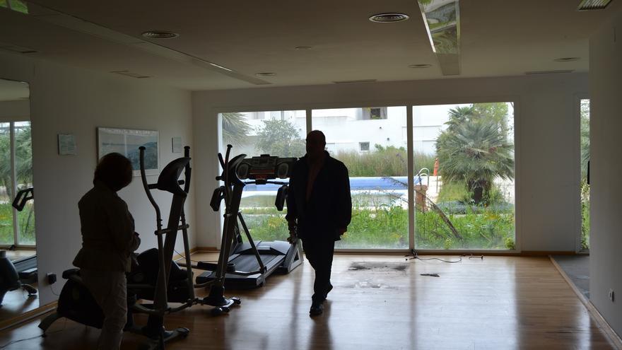 Una imagen del gimnasio del hotel del CIO Mijas, en su estado actual | N.C.