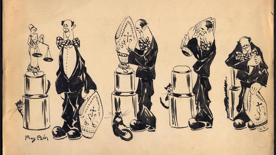 'Juego... Sucio', una muestra del humor gráfico de Acín que puede verse en el Museo Pablo Serrano.