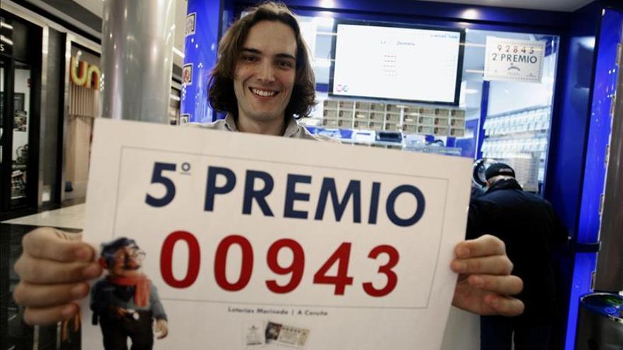 Un quinto premio, el 00943, deja casi tres millones de euros en A Coruña
