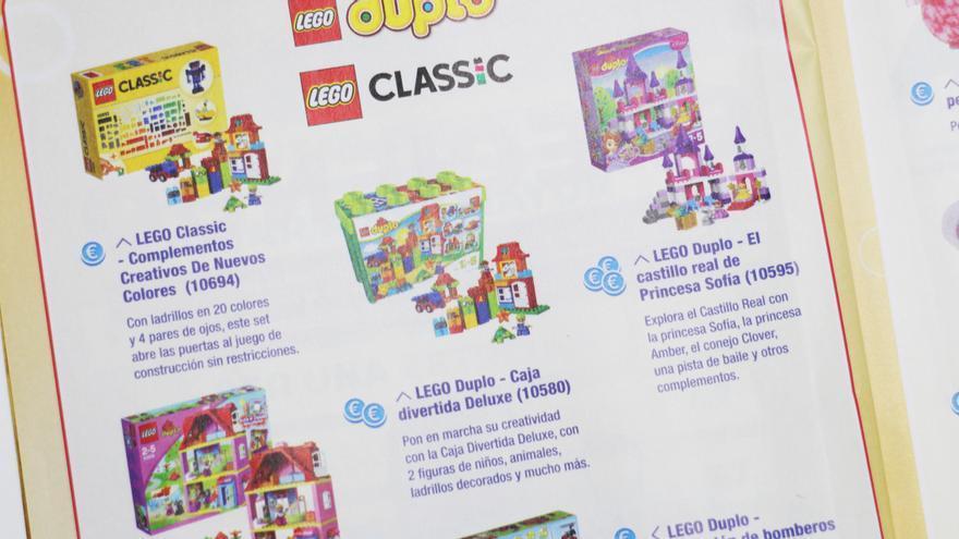 Página del catálogo de juguetes Amazon