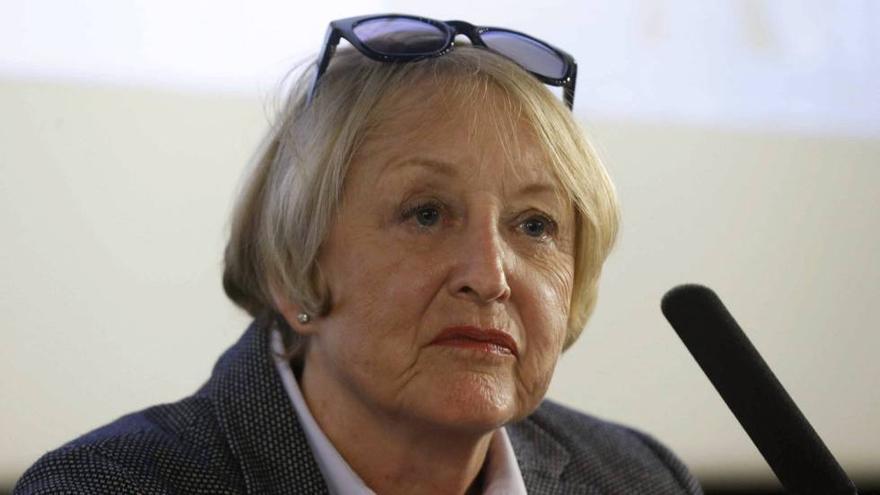 La presidenta de la Academia de Cine, Yvonne Blake, durante su primera comparecencia pública