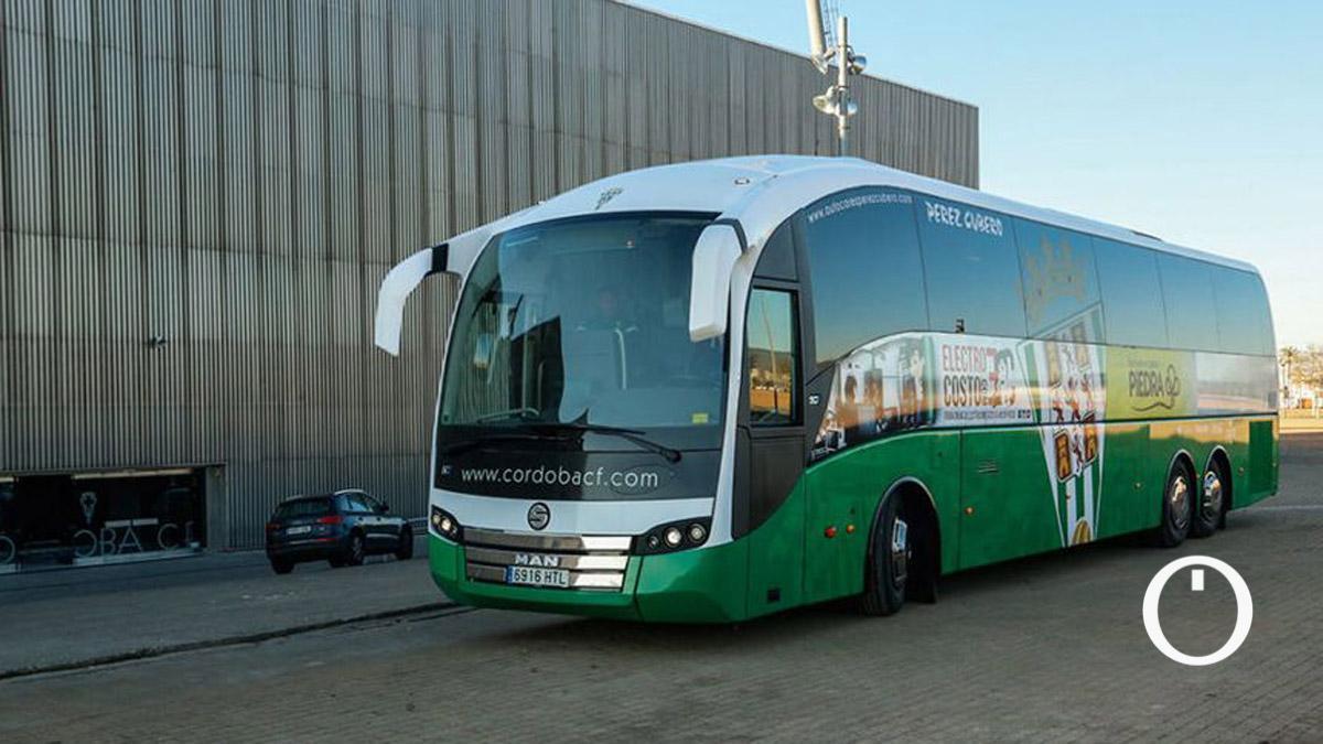 Autobús del Córdoba, en una imagen de archivo
