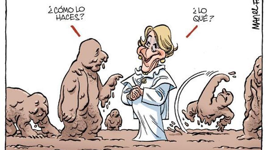 Esperanza Aguirre, chiste de Manel Fontdevila