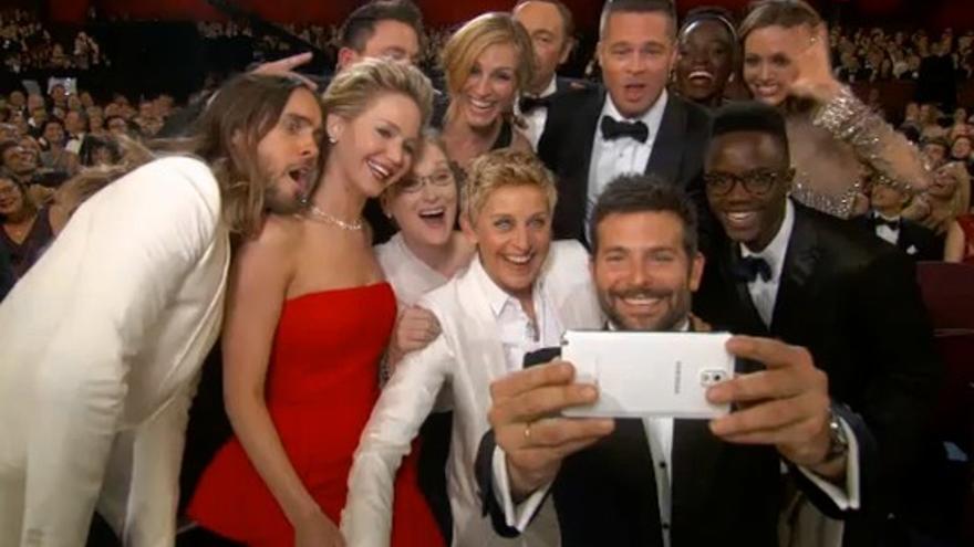 Agudeza visual: ¿a quién pertenece realmente el selfie de los Oscar? / Captura de pantalla ABC