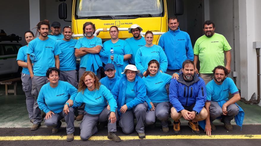 Alumnos y alumnas del proyecto PFAE Reforesta Puntagorda.