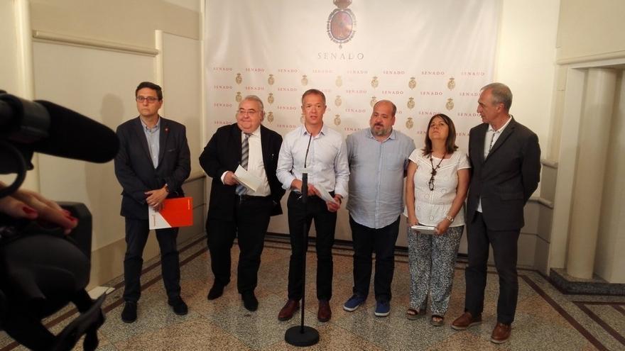 PSOE, Podemos y Cs preparan una declaración conjunta contra el PP en la comisión de financiación de partidos del Senado