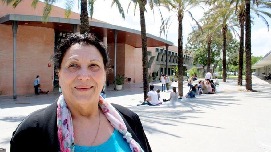 Rita Prigmore, ayer, en la Universidad Pablo de Olavide de Sevilla.