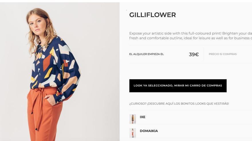 Oferta de alquiler de ropa online