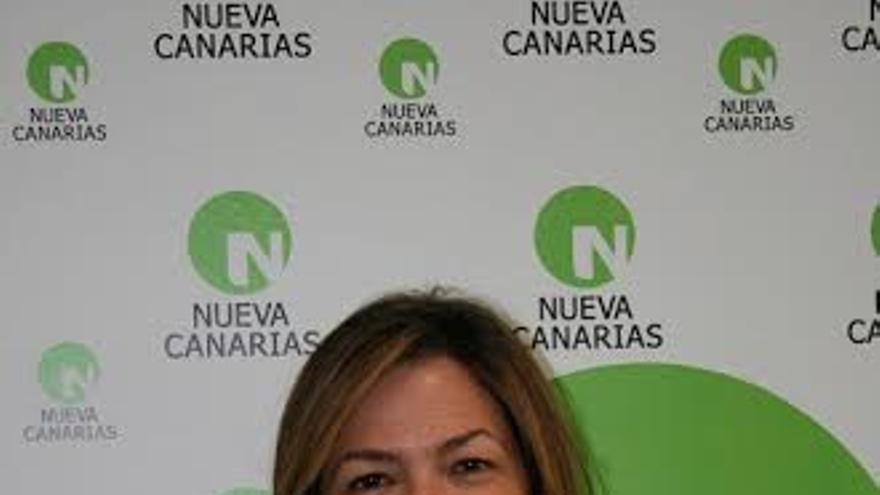 Maeve Sanjuán, presidenta de Nueva Canarias (NC) en La Palma.