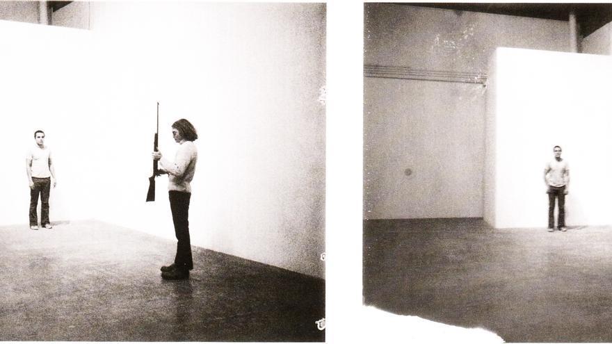 Chris Burden: shoot (1974)