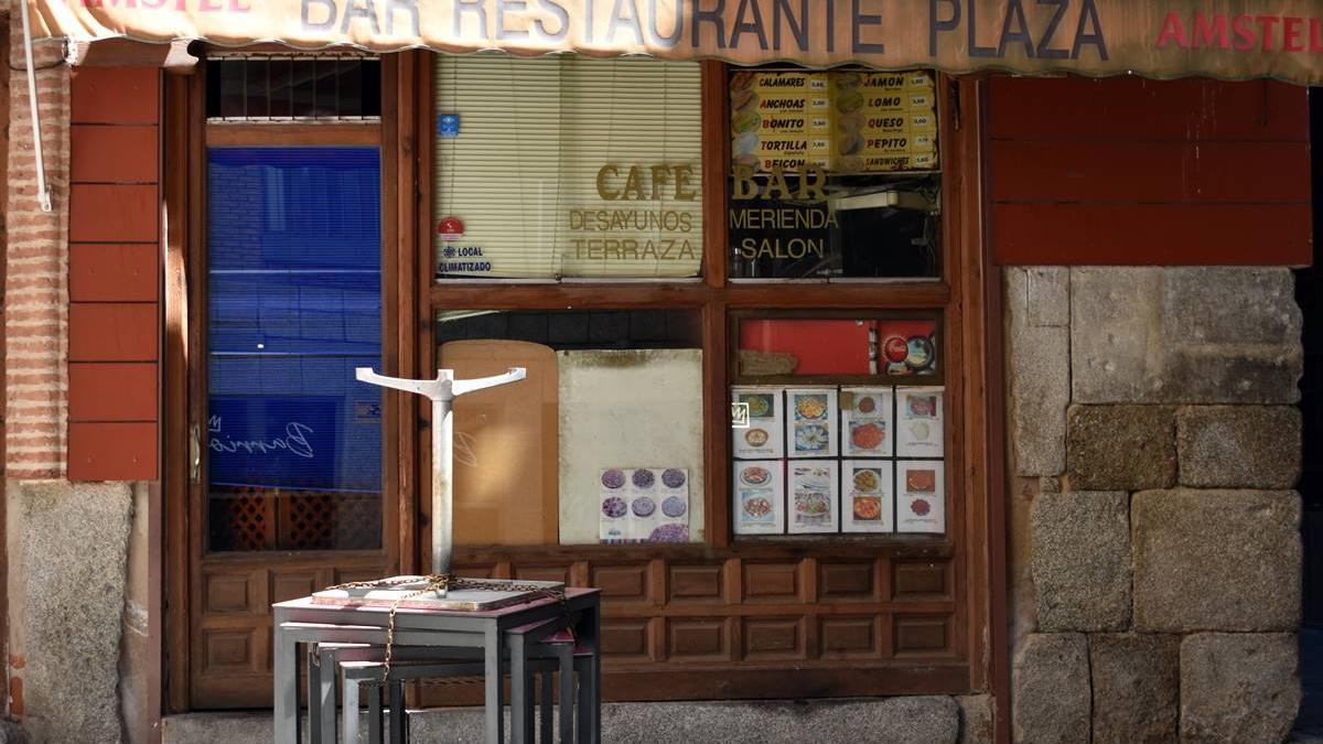 Hostelería cerrada en Toledo