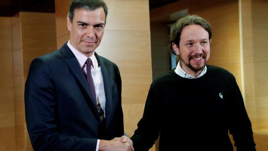 """Sánchez ofrece a Iglesias negociar """"un gobierno de cooperación"""" con Podemos"""