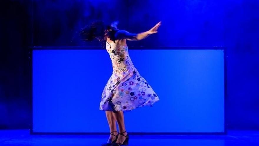 Un momento del espectáculo de la compañía EnÁmbar Danza.