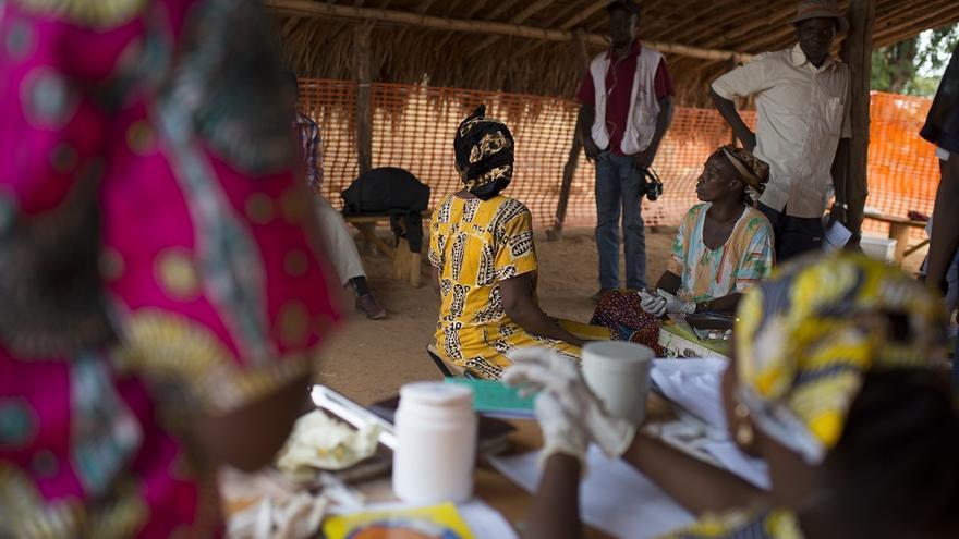 Campaña de vacunación de MSF en Maloum.
