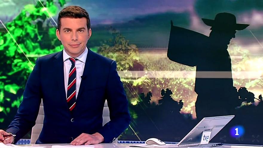 Jerónimo Fernández al frente del Telediario 1 de TVE