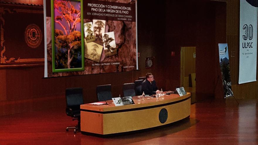 Andrés Carmona durante su intervención.