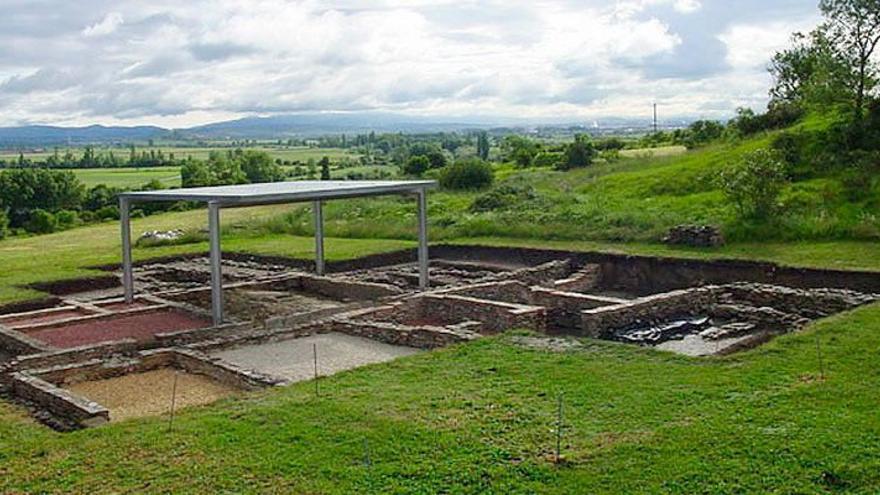 Una parte del yacimiento arqueológico de Iruña -Veleia