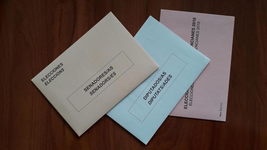 Las tres papeletas para el 28A en la Comunitat Valenciana: Congreso, Senado y Corts