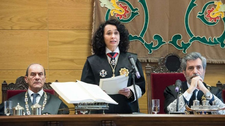 Toma de posesión de María Félix Tena como nueva presidenta del Tribunal Superior de Justicia de Extremadura