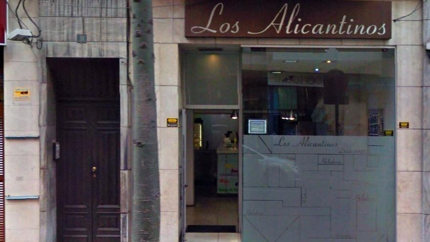 Actual heladería de 'Los Alicantinos', situada en la calle León y Castillo. (Google Maps).