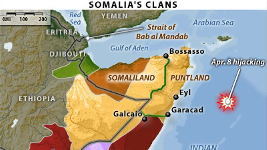 Mapa de Somalia y sus clanes./ Flickr