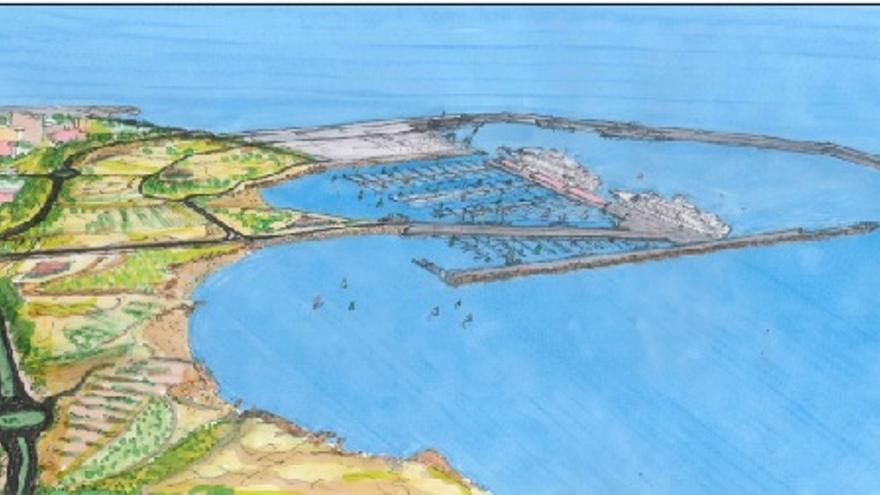 Propuesta de reconversión parcial del Puerto de Granadilla en puerto base de cruceros, marina náutico-deportiva con 1.500 atraques y parque marítimo de 750.000 metros cuadrados de superficie.