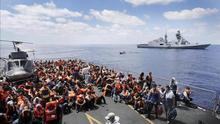 Aumentan a 29 las personas muertas de frío en una embarcación cerca de Lampedusa