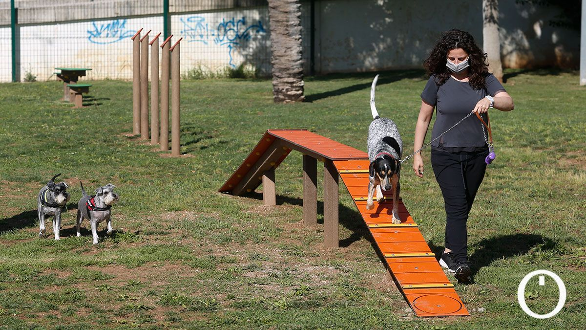 Zona esparcimiento canino en el Vial