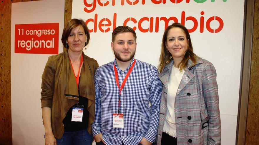 Blanca Fernández, Nacho Hernando y Cristina Maestre. FOTO: PSOE CLM