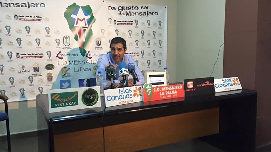 Imagen de archivo de Jaime Molina Mata en una rueda de prensa.