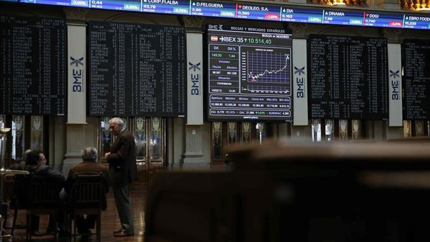 El IBEX intenta el rebote y sube un 0,15 por ciento pendiente de Grecia y Ucrania