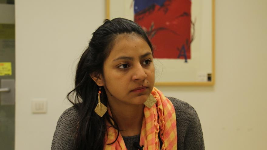Laura Zúñiga Cáceres, en la sede de Amnistía Internacional España.