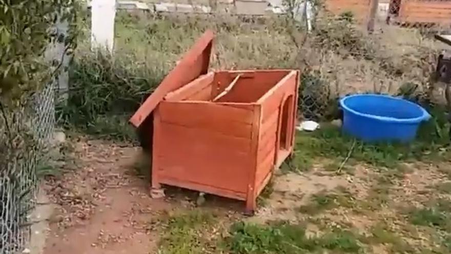 Caseta del Arca de Noé dañada por el temporal.